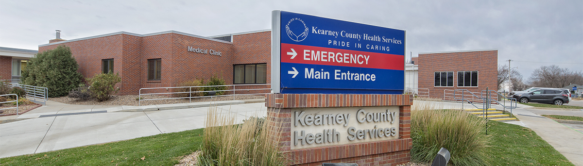 Kearney County Health Systems Building.